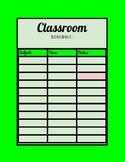 Classroom Schedule (Green Color)