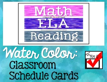 Classroom Schedule Headers