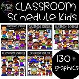 Classroom Schedule Kids: School Clipart {Kid Clipart}