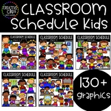 Classroom Schedule Kids: Growing Set {Creative Clips Clipart}