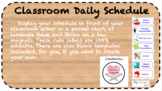 Classroom Schedule Labels (Editable)