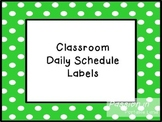 Classroom Schedule Labels Freebie (Editable)