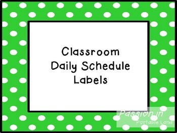 Classroom Schedule Labels Freebie (Editable)