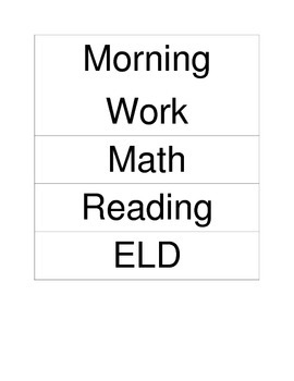 Classroom Schedule Magnets