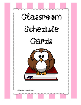 Classroom Schedule Picture Cards