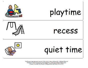 Classroom Schedule Strips