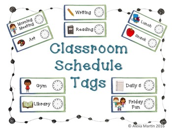 Classroom Schedule Tags
