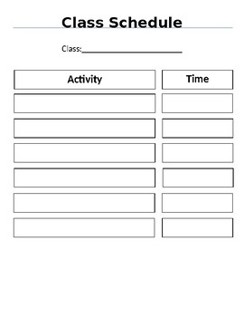 classroom schedule template by tim dovichi teachers pay teachers