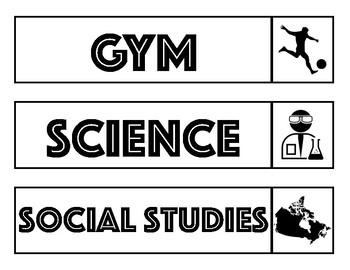Classroom Schedule + Visual