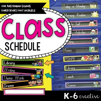 Classroom Schedule - Visual Timetable