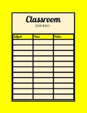 Classroom Schedule (Yellow Color)