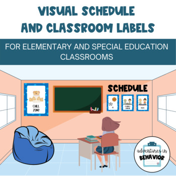 Cool Themed Classroom Schedule and Labels Package