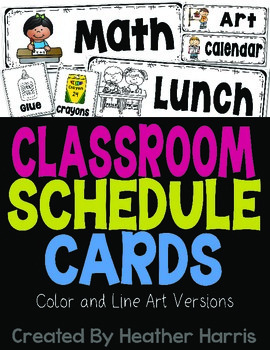 Classroom Schedule and Supply Cards