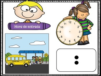 Classroom Schedule in Spanish