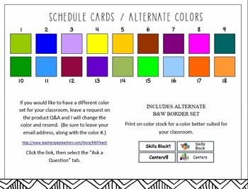 """Schedule Cards: Classroom """"Schedule of the Day"""" (Pocket Chart Cards)"""