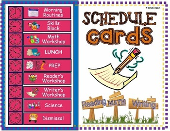 "Schedule Cards: Classroom ""Schedule of the Day"" (Pocket Ch"