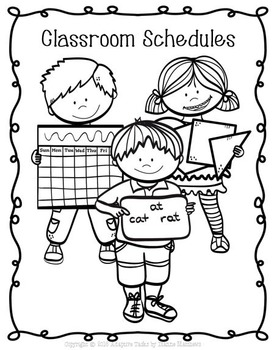 CLASSROOM SCHEDULES Signs, Matching, and Coloring
