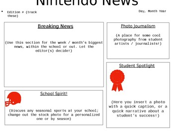 Classroom / School Newspaper Template for PC (PowerPoint)