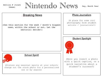 Classroom / School Newspaper Template for Macs