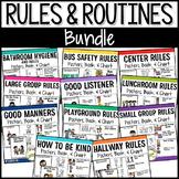 Classroom & School Rules BUNDLE | Positive Behavior Management