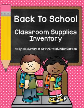 Classroom/School Supplies Inventory