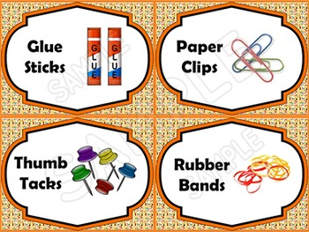 EDITABLE Classroom Supply Labels EDITABLE School Supply Labels CRAYON BACKGROUND