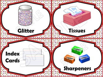 EDITABLE Classroom Supply Labels EDITABLE School Supply Labels ALPHABET BLOCKS