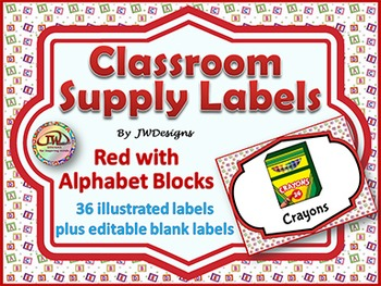 Labels - Classroom Supply Labels