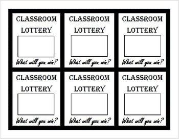 Classroom Scratch Off Lottery Tickets Template, diy scratchers tickets