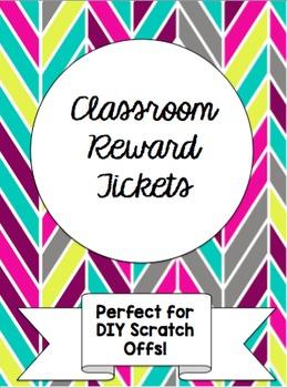 Classroom Scratch Off Reward Tickets