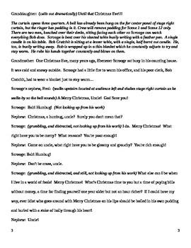 Classroom Script - A Christmas Carol - Charles Dickens