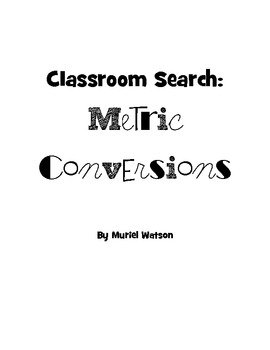 Classroom Search: Metric Conversions