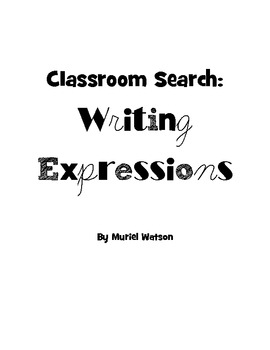 Classroom Search: Writing Expressions