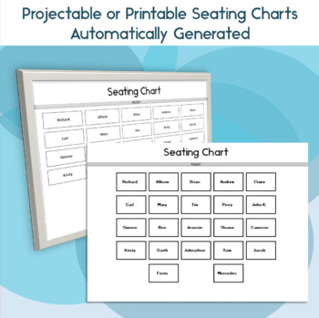 graphic about Printable Seating Chart called Clroom Seating Chart Attendance and Quality Sheet Template for Google Enthusiasm
