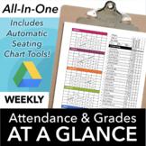 Classroom Seating Chart Attendance and Grade Sheet Templat