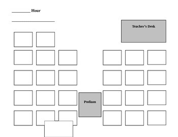 Classroom Seating Chart Template Classroom Seating Chart Template  Classroom Seating Chart Templates