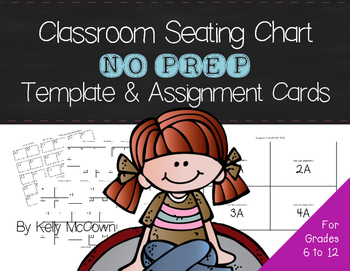 Classroom Seating Chart NO PREP Template and Seating Assignment Cards