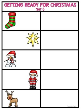 Classroom Seek and Find - Getting Ready for Christmas (7 Sets)