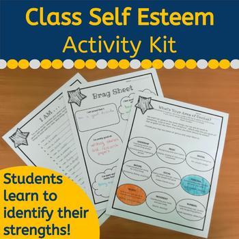 Self Esteem Activity Pack #summer2018