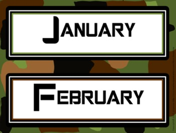 Classroom Set- Camo Theme (military)