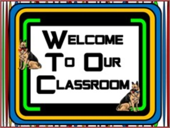 Classroom Set- Dog (German Shepherd)