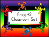 Classroom Set- FROGS THEME #2- Basic Colors