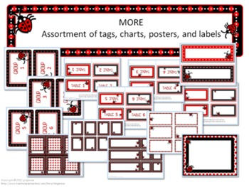 Classroom Set- LADYBUG THEME #1- Red