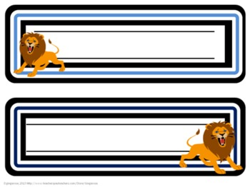 Classroom Set- Lions (Blue)