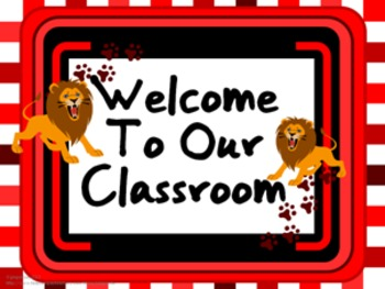 Classroom Set- Lions (Red)