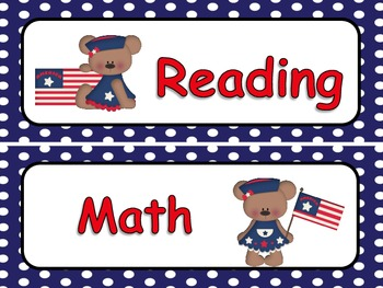 Patriotic Theme Classroom Display