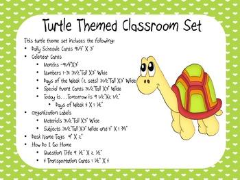 Turtle Theme Classroom Display