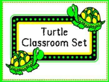 Classroom Set- Turtles by gingerose | Teachers Pay Teachers