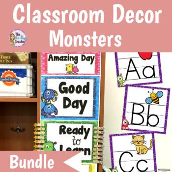 Classroom Decor Bundle Monster Theme