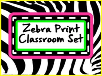 Classroom Set- ZEBRA (bright colors)